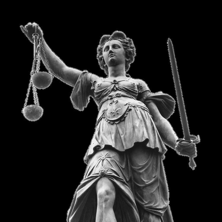 Imagen de la diosa Themis utilizada en la página web de Estudio Jurídico San Gregorio, despacho de abogados ubicado en Telde